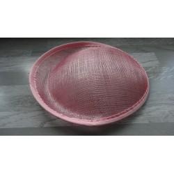 Base ovale bombée en sisal rose clair pour chapeau/bibi