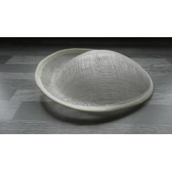 Base ovale bombée en sisal écru pour chapeau/bibi