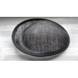 Base ovale bombée en sisal noir pour chapeau/bibi