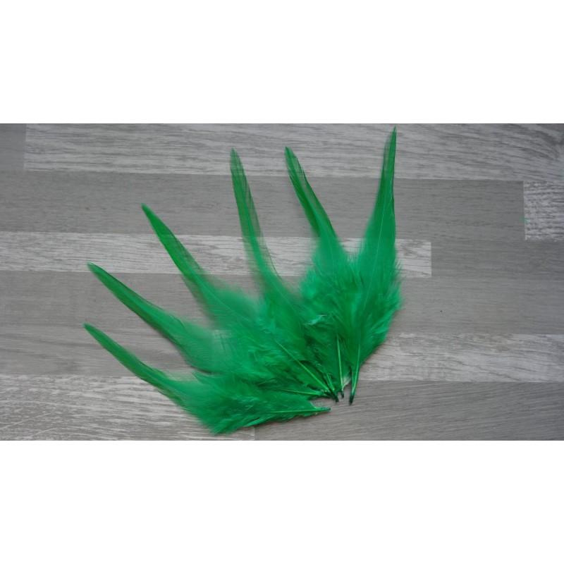 lot de 20 plumes de coq teint es de couleur vert meraude. Black Bedroom Furniture Sets. Home Design Ideas