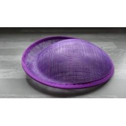 Base ovale bombée en sisal violet pour chapeau/bibi
