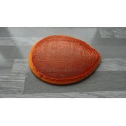 Base forme goutte bombée en sisal orange pour chapeau ou bibi