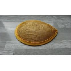Base forme goutte bombée en sisal ocre pour chapeau ou bibi