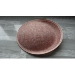 Base ovale bombée en sisal rose buvard pour chapeau/bibi