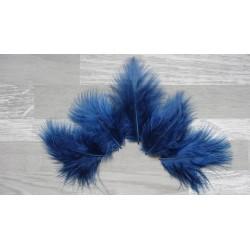 Lot de 20 Plumes de duvet de dinde couleur bleu nuit