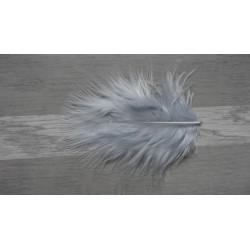 Lot de 20 Plumes de duvet de dinde couleur gris clair