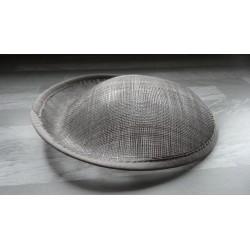 Base ovale bombée en sisal gris pour chapeau/bibi