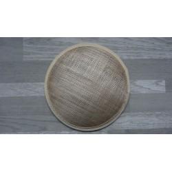 Base ronde bombée en sisal beige pour chapeau ou bibi