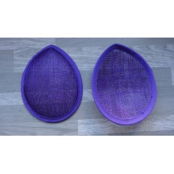 Base forme goutte bombée en sisal violet pour chapeau ou bibi