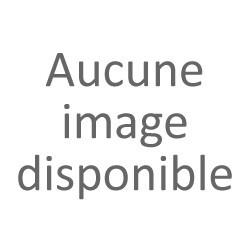 50cm Ruban de barbules d'autruche blanc